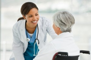 A doctor establishing trust with her patient