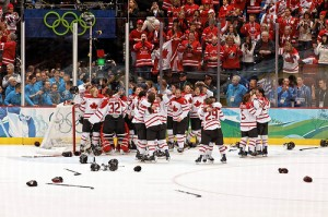 The Canadian Women's Hockey Team winning Gold in the 2010 Olympics. Photo by S. Yume